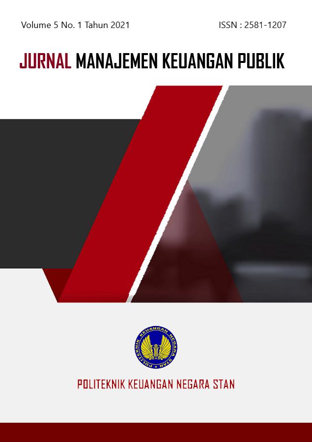 View Vol. 5 No. 1 (2021): Akuntabilitas Pengelolaan Keuangan Negara